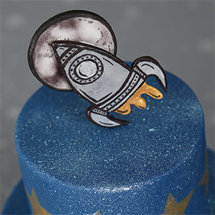 Rocket To The Moon Cake