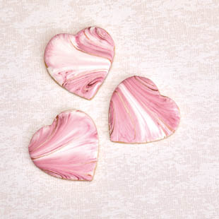 Marbled Rose Gold Hearts