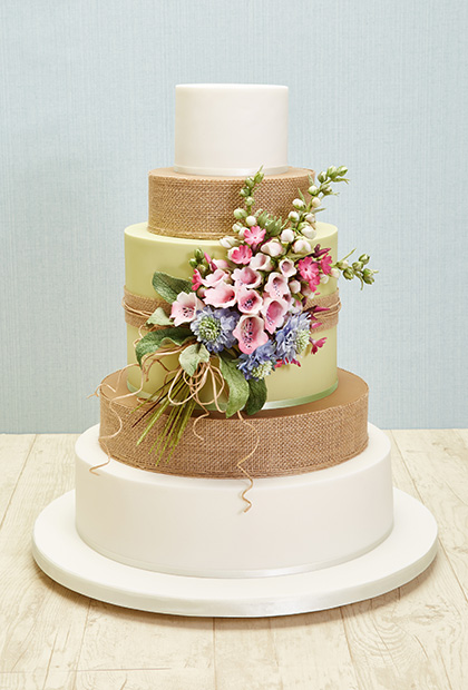 wildflower wedding cake images galleries with a bite. Black Bedroom Furniture Sets. Home Design Ideas