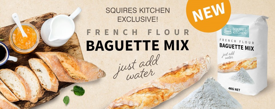 Squires Kitchen Exclusive - French Flour Baguette Mix